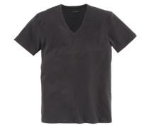 T-Shirt mit V-Ausschnitt »Dry Cotton« schwarz