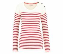 Streifenpullover rot / weiß