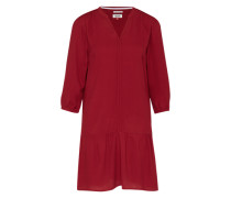 Kleid mit 3/4-Ärmel rot