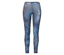 Leggings mit grafischem Muster blau