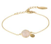 Armband 'Rosenquarz' gold / rosa