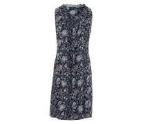 Ärmelloses Kleid mit All Over-Print navy / offwhite