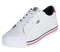 Sneaker mit dicker Sohle weiß