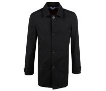 Kurzmantel im Trenchcoat-Style schwarz
