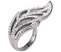 Ring mit Zirkonia »Blatt« silber