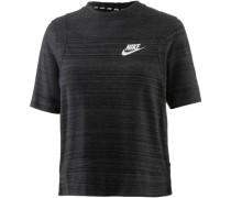 'Advanced Knit' T-Shirt schwarz