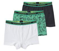 3er-Pack Hip Shorts grün