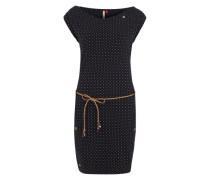 Jerseykleid mit Gürtel dunkelblau