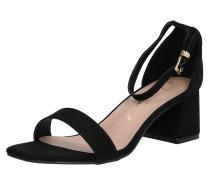 Sandale 'zaniel' gold / schwarz
