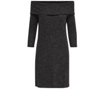 Einfarbiges Kleid mit langen Ärmeln grau