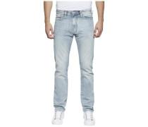 Jeans »Slim Straight Slater Molbr« hellblau