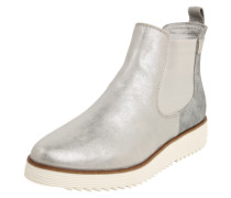 Chelsea-Stiefelette mit Metallic-Finish
