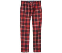 Homewear »Classic flannel pant check« rot