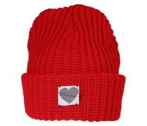Mütze 'Chunky Rib' rot