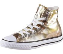 'Chuck Taylor All Star Hi' Sneaker Mädchen gold / schwarz / weiß