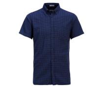 Kariertes Kurzarmhemd navy / nachtblau