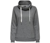 Einfarbiges Sweatshirt dunkelgrau
