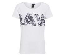 Shirt mit Aufdruck schwarz / weiß