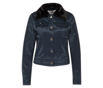 Jacke mit Fake Fur Kragen 'Plot' navy