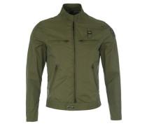 Jacke mit elastischen Seiten-Einsätzen khaki