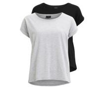 T-Shirt Einfache 2-pack grau / schwarz