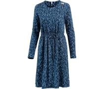 Langarmkleid Damen blau