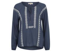 Bluse im Folklore-Stil 'Kaylee' rauchblau