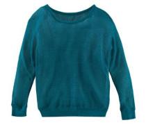 Pullover in Lochstrickoptik für Mädchen türkis
