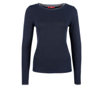 Pullover im Lagen-Look navy