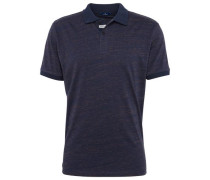 Polo-Shirt in Melange-Optik dunkelblau