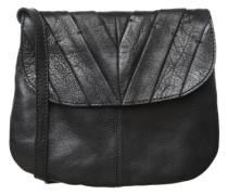 Leder-Umhängetasche schwarz