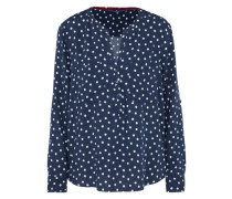 Casual Bluse navy / weiß