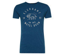 Print T-Shirt dunkelblau