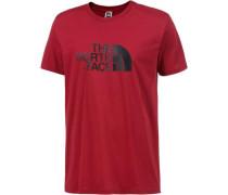 Printshirt 'Easy' rot / schwarz