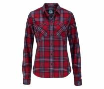 Hemdbluse 'lumberjack Shirt' blau / blutrot / weiß
