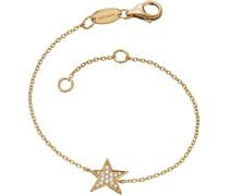 Armband mit Zirkonia `Stern Lil' Erb-Lilstar-Zi-G' gold