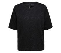 Viskosemix-Sweatshirt schwarz