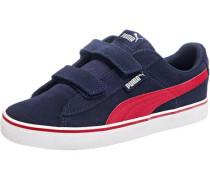 Kinder Sneakers '1948' aus Leder blau / dunkelblau / rot / weiß
