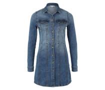 Jeanskleid mit Used-Waschung blau