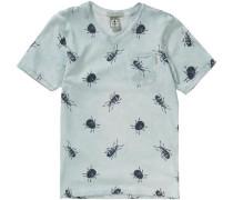 T-Shirt mit V-Ausschnitt für Jungen hellblau