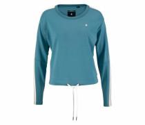 Sweatshirt 'Nostelle' himmelblau / weiß