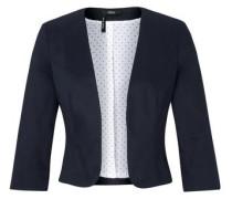 Modischer Blazer aus Baumwollsatin nachtblau