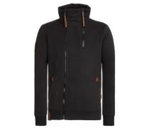 Zipped Jacket 'Du Affenmensch Iii' schwarz