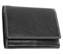 Porto Geldbörse Leder 125 cm schwarz