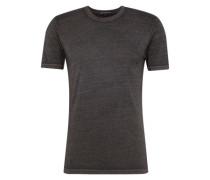 T-Shirt mit Rundhals-Ausschnitt 'Carlo' dunkelgrau