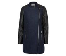 Lange Jacke blau / schwarz