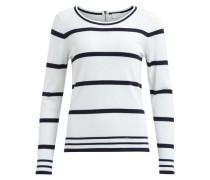 Gestrickter Pullover schwarz / weiß