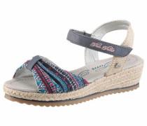 Sandale beige / blau / mischfarben