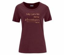 T-Shirt 'Tiana' weinrot
