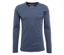 Shirt 'aqua v-neck' dunkelblau